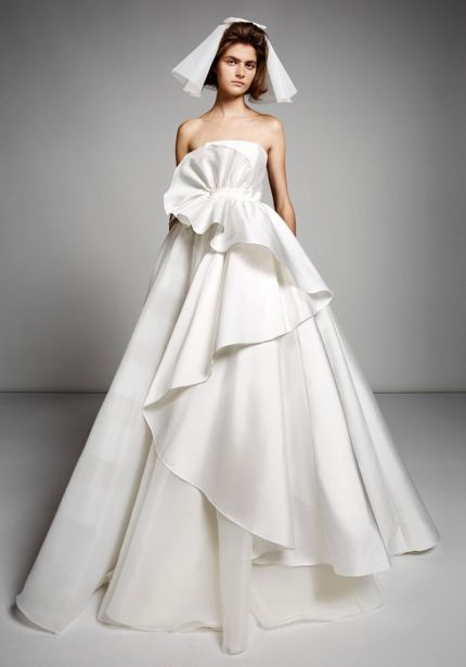 Sculptural Swirl Mikado Ball Gown