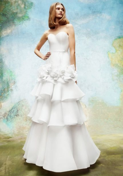 Wild Rose Tiered Wedding Dress