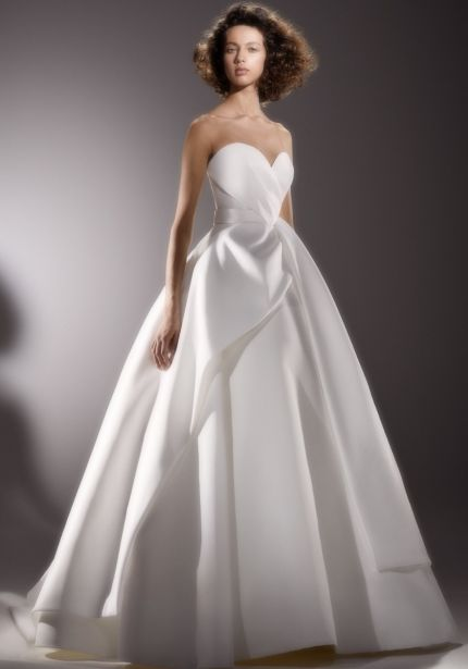 Sculptural Drape Wedding Dress