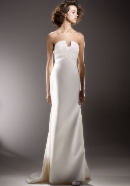 Strapless Draped Wedding Dress