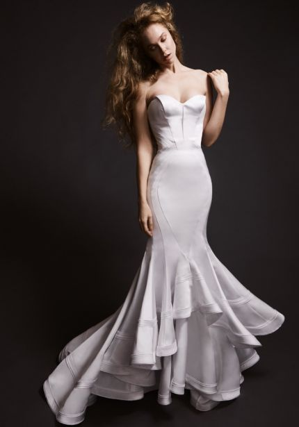 Mermaid Wedding Dress with Ruffles