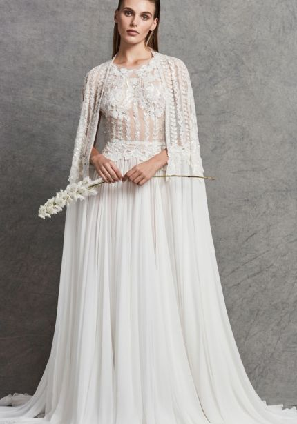 Embellished Chiffon Wedding Dress