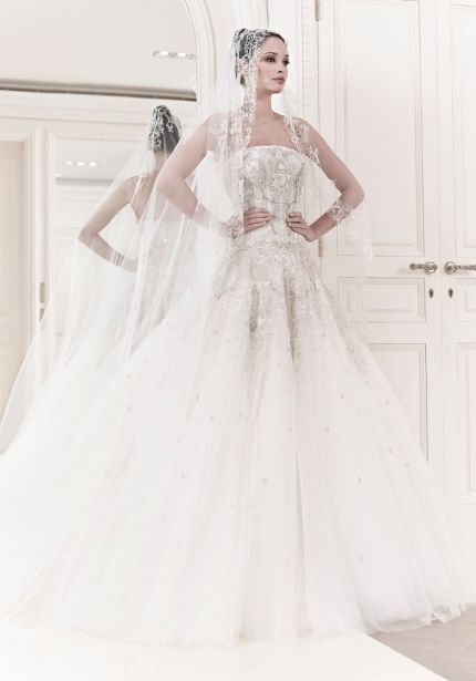 Heavily Embellished Tulle Ball Gown