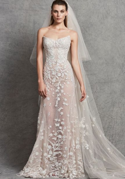 Heavily Beaded Mermaid Wedding Dress