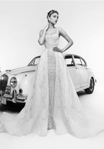 Fully Beaded Tulle Ball Gown