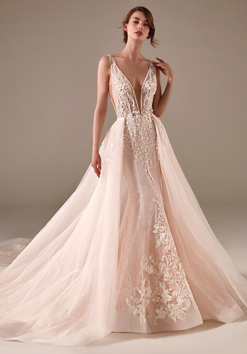 Pronovias Privee   CHIMAMANDA Blush Pink 20 IN 20 Lace Ball Gown ...